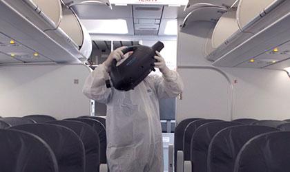 Desinfección y ventilación de aviones