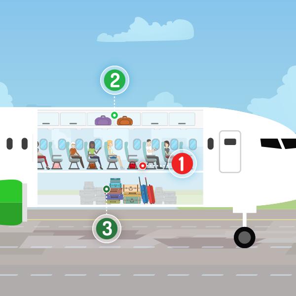 Partes del Avion donde se guarda el equipaje